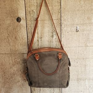 Faux Suede Cato Hobo Bag